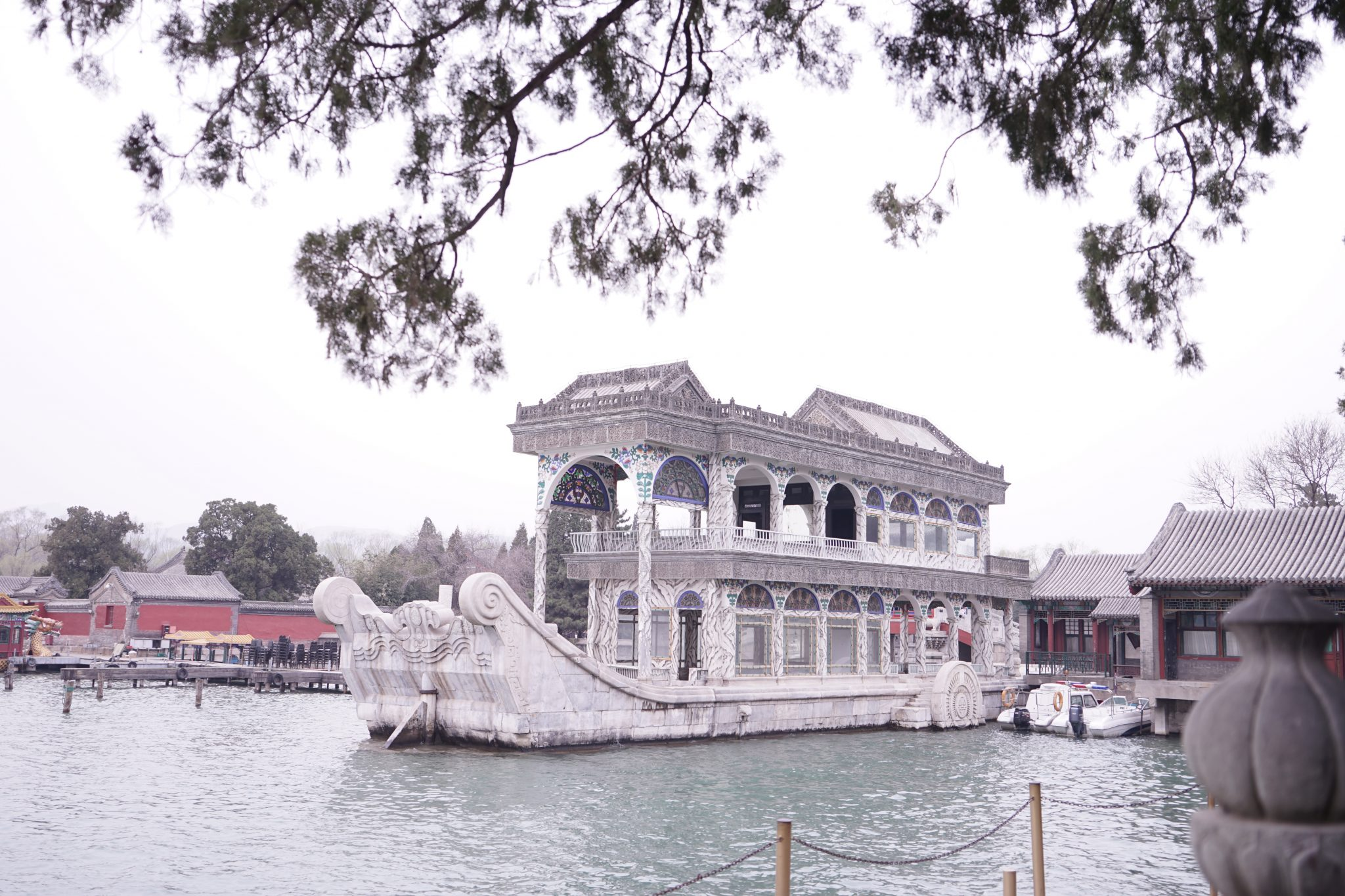 the summer palace, the marble boat